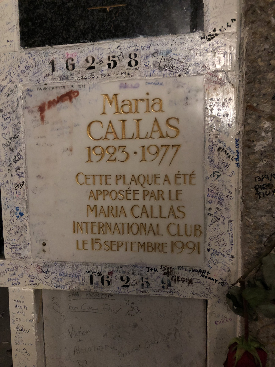 Ячейка Марии Каллас в колумбарии