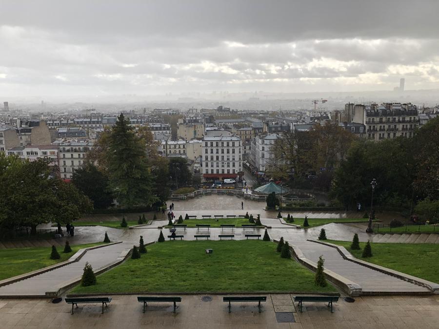 Панорама Парижа с холма Монмартр